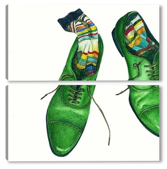 Модульная картина Зеленые ботинки