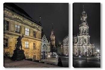 Модульная картина Ночной Дрезден