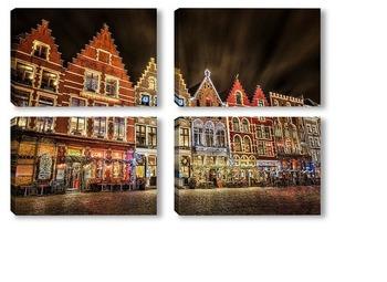 Модульная картина Рождественский Брюгге