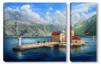 Модульная картина Монастырь в Черногории