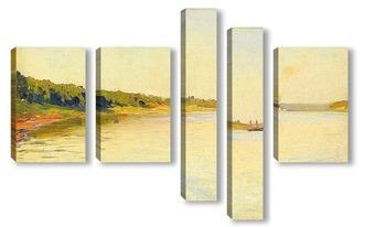 Модульная картина Волга, 1884