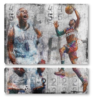 Модульная картина Лига баскетбола