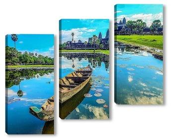 Модульная картина Ангкор Ват. Камбоджа.