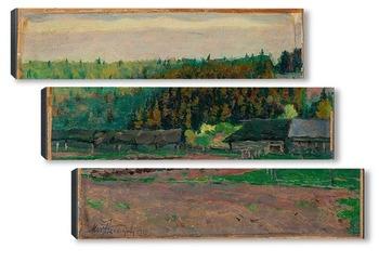 Модульная картина Сельский пейзаж, 1922