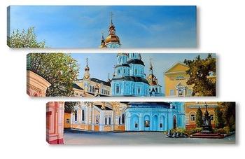 Модульная картина Вид на Свято-Покровский мужской монастырь