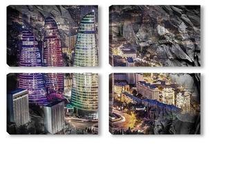 Модульная картина Азербайджан, Баку