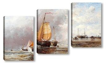 Модульная картина Свежим утром на голландском побережье