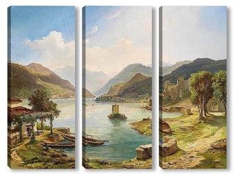 Модульная картина Северные итальянские озера