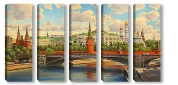 Модульная картина Москва, Кремль
