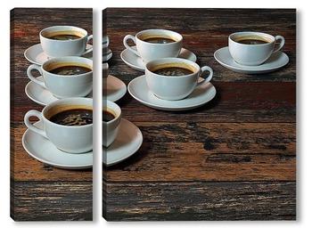 Модульная картина Кофе для всех