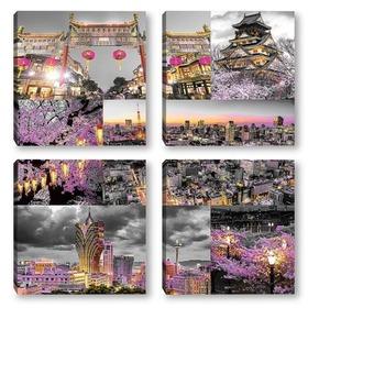 Модульная картина Ночь в Токио