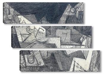 Модульная картина Вечный взгляд, усталая волна