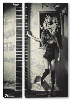 Модульная картина Арт девушка