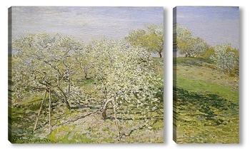Модульная картина Весна (цветение фруктовых деревьев)