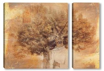 Модульная картина Goat in the image