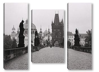 Модульная картина Карлов Мост в Чехии.