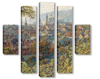Модульная картина Вид на Прагу