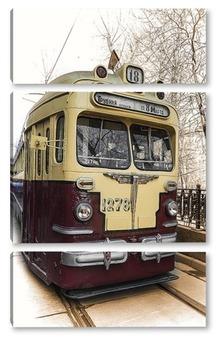 Модульная картина Старый трамвай