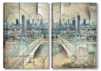 Модульная картина Мост в Варшаве