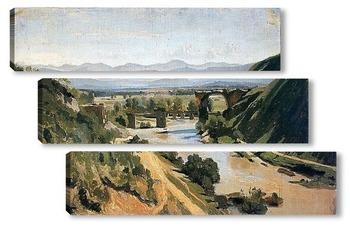 Модульная картина Мост в Нарни