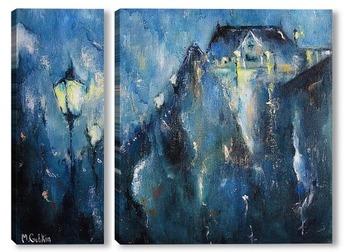 Модульная картина Дождливая ночь