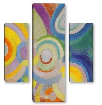 Модульная картина Цветные диски