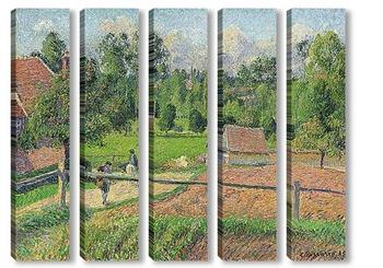 Модульная картина Вид из окна художника.Эраньи