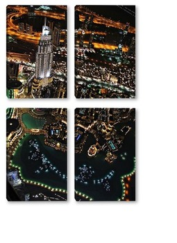 Модульная картина Вид с самого высокого здания в мире «Бурдж-Халифа»
