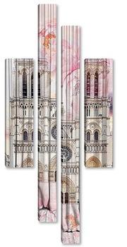 Модульная картина Собор Нотр-Дам