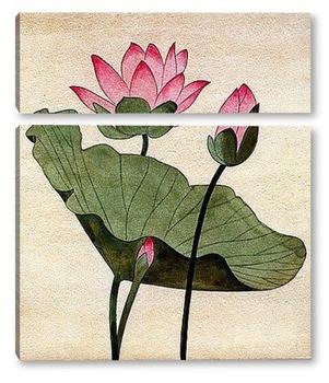 Модульная картина Цветок лотоса.