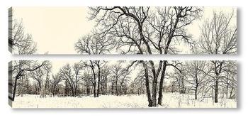 Модульная картина зима 2