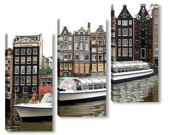 Модульная картина Водная прогулка в Амстердаме