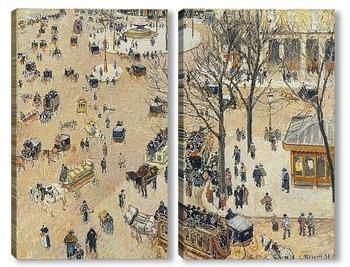Модульная картина Площадь около французского театра