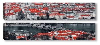 Модульная картина Панорама Праги