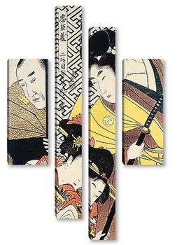 Модульная картина Utamaro004