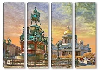 Модульная картина Санкт-Петербург. Исакиевский собор.