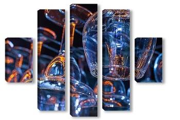 Модульная картина бармен