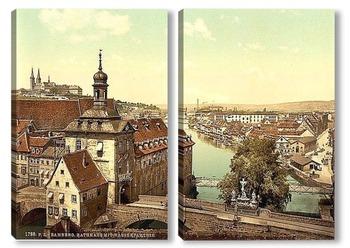 Модульная картина Бамберг, Бавария, Германия.1890-1900 гг