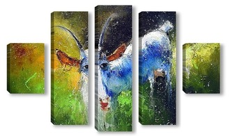 Модульная картина Сидорова Коза