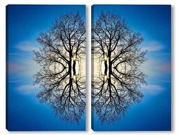 Модульная картина Небеса 02