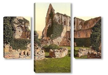 Модульная картина Аббатство,Тинтерн, Англия.1890 -1900 гг