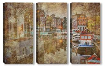 Модульная картина Пейзажи Амстердама