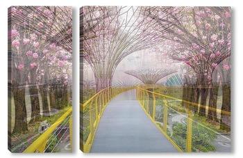 Модульная картина Парк Сингапур