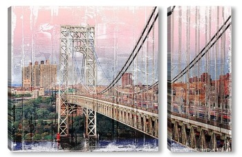 Модульная картина  Мост Джорджа Вашингтона