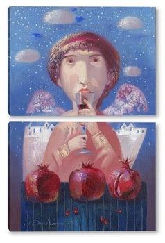 Модульная картина Зимний Ангел