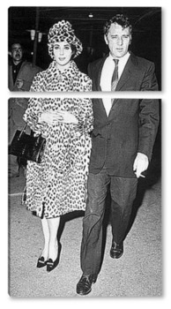 Модульная картина Элизабет Тейлор и Ричард Бартон.