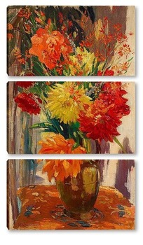 Модульная картина Цветочный натюрморт