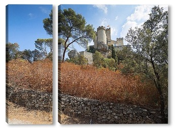 Модульная картина Замок Ла Барбьен