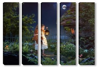 Модульная картина Сказка на ночь