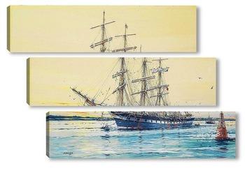 Модульная картина Австралийский корабль